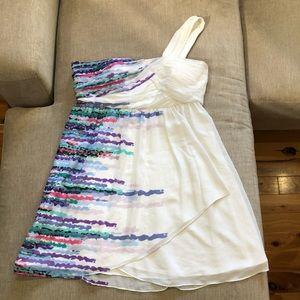 BCBG size 12 one shoulder dress.